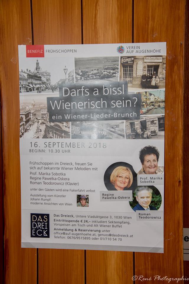 """Wienerlied - Benefiz - Veranstaltung des Vereins """"Auf Augenhöhe"""", Wien 3"""