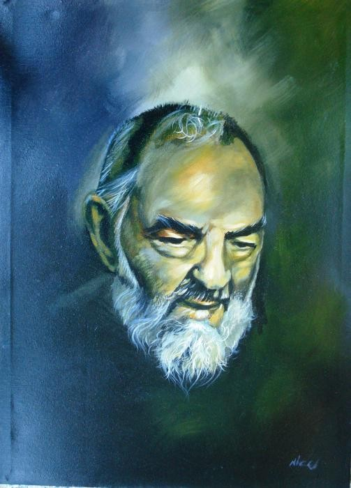 Carnevale Nicola  – San Pio da Pietralcina - olio tela 53 x 74