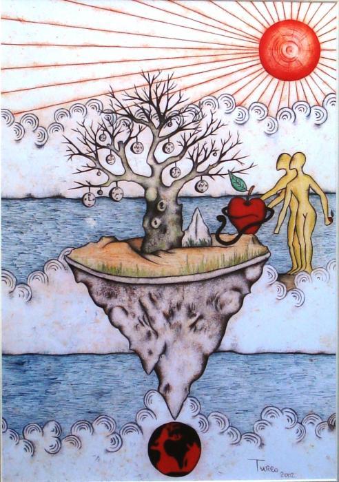 Turco Lillo – L'albero del tempo penne a sfera, Carta, 35x45cm
