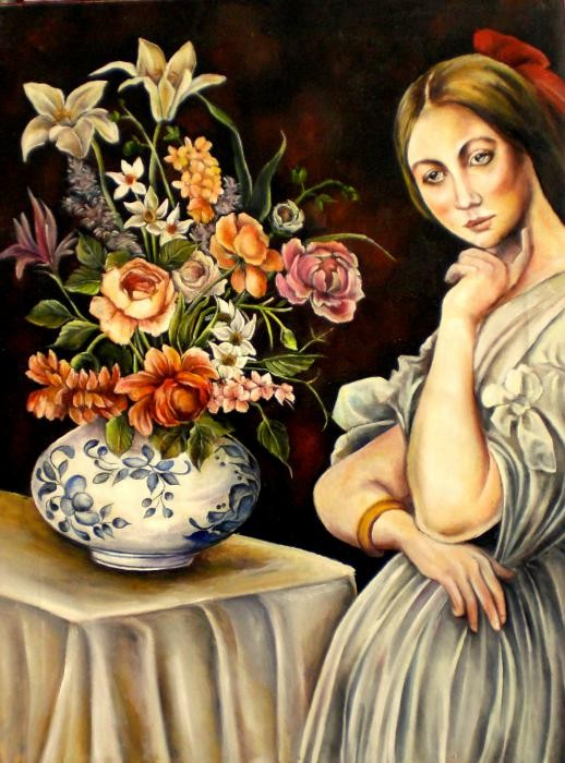 Dominici Valentina - Riflessioni - olio tela - 60 X 70