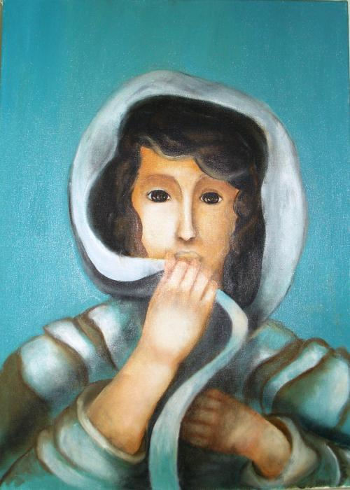 mikeli okiana verso la libertà olio su tela 50 x 70