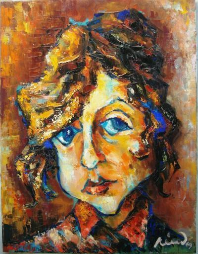 Rives Jean Francois - amelie - olio tela - 50 x 60