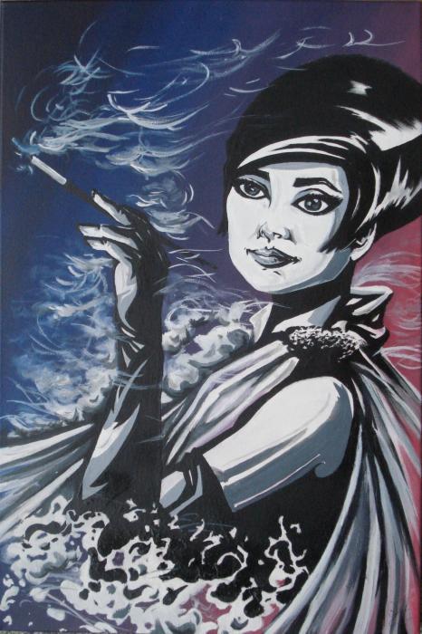 jeff spartan - Audrey Hepburn - acrilico su tela - 40 X 60 - 2012