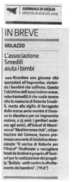 Giornale di Sicilia - 28 maggio 2009
