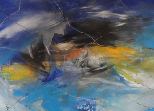 Andreas Gutt - Astratto - Acrilico su tela - 115 x 75