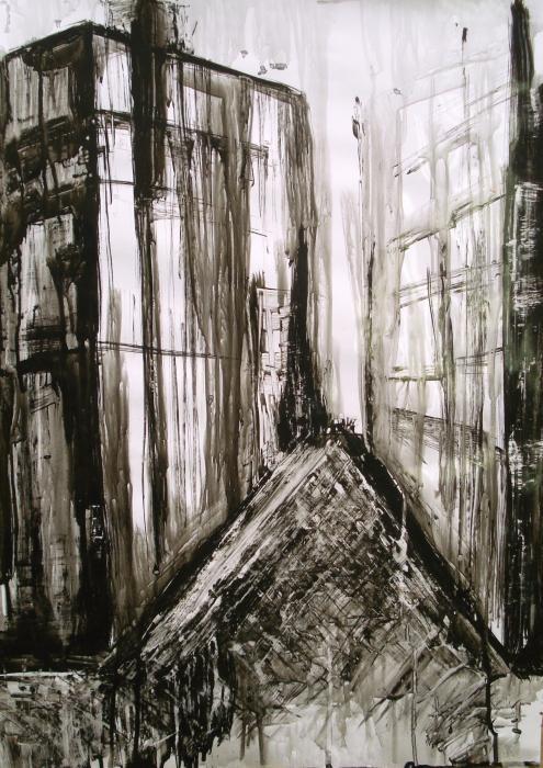 Trifonova Stela - Abstract cityscape - inchiostro carta fotografica - 50 X 70