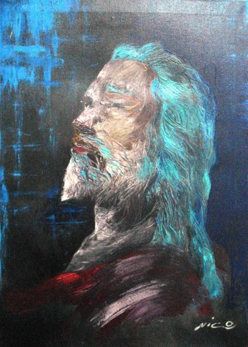 Carnevale Nicola - Gesù di Nazareth - olio tela - 50 X 70