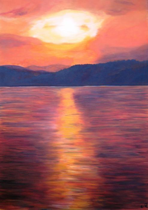 Rizzotti Cinzia - Bagliori al tramonto - olio tela - 50 X 70