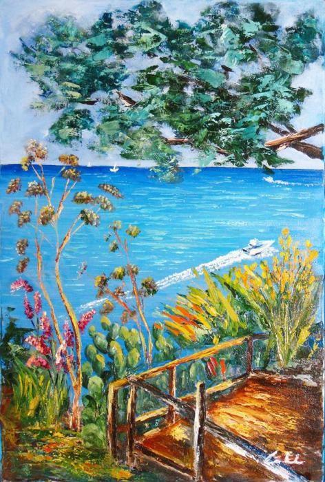 Colombo Carla - Da quassù il mare - olio tela - 40 x 60