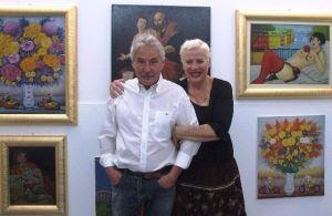 Paola Mattei Gentili assieme al maestro Salvo Lombardo