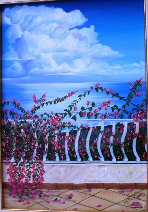 Di Maio Maria - Vista sul mare - olio tela - 40 X 60