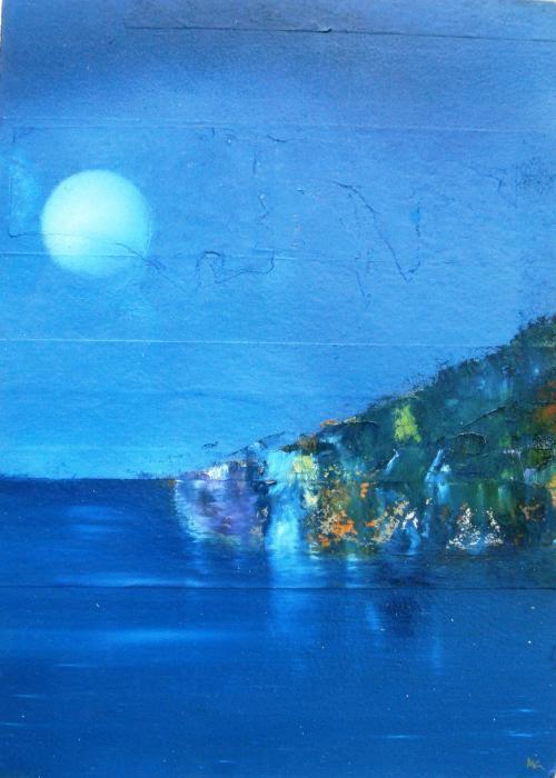 Gisbourne Mark  - Seamouth Reflection - olio legno - 20 X 30