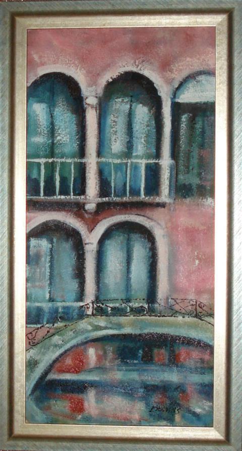 Gabriella Dumas Burgato - Venezia 2010 - tecnica mista su tela - 35 x 70