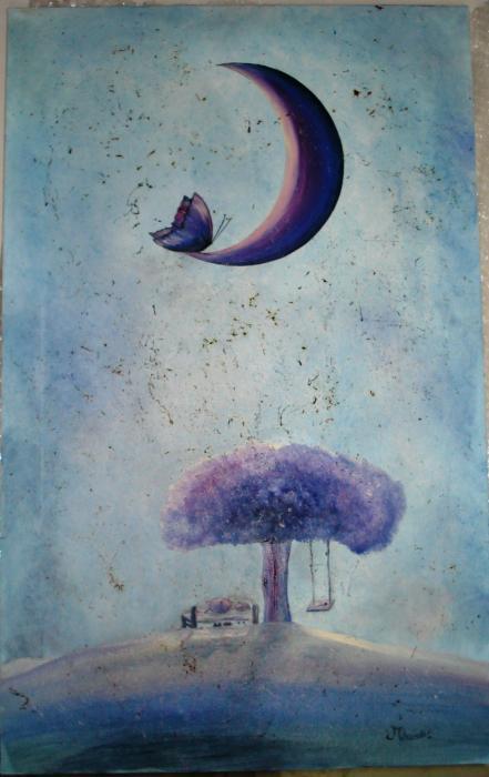 delicati mario il nostro sogno olio su tela 50 x 80