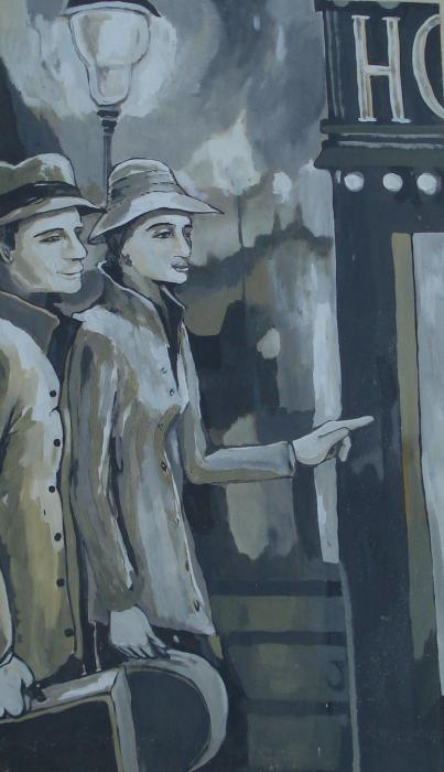 Novakova Vera - viaggiatori nel tempo - acrilico tela - 60 x 100