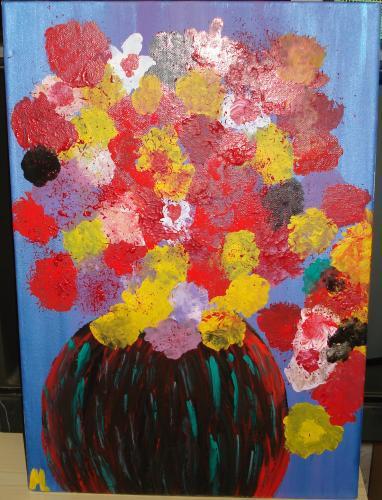 Mirna Poli - Fantasia d'estate - olio su tela  - 40 x 50
