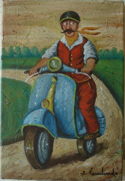 Lombardo Salvo – Vespa 50 - olio tela - 20 x 30