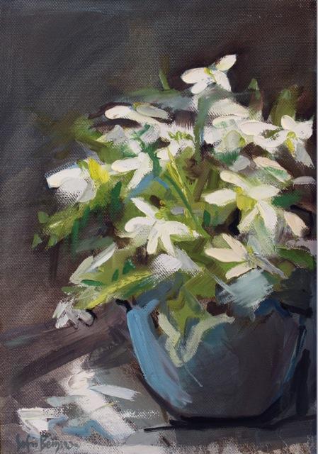 Sofia Bergman - Flowers - olio su tela - 40 x 53