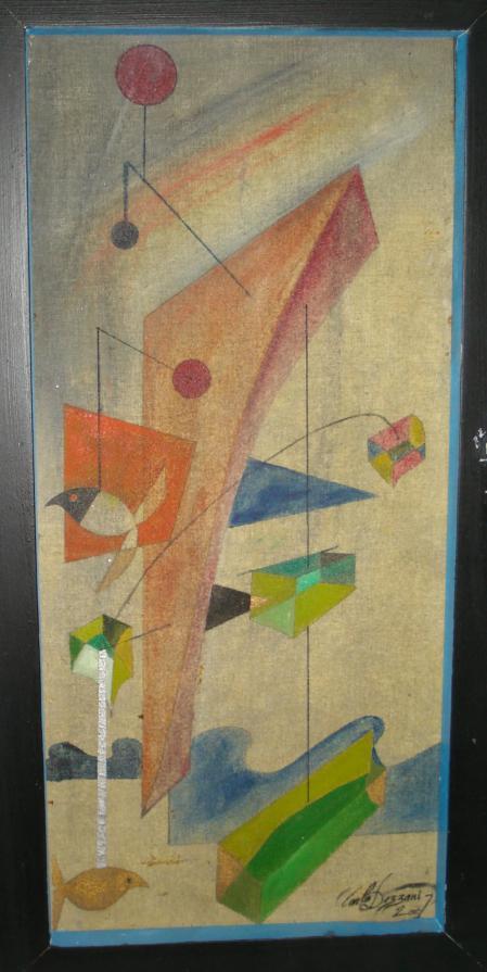 "Carlo Dezzani ""Dejan"" - 4 - olio su tela - 24 x 52"