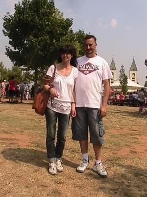 Sandro e sua moglie Suzana