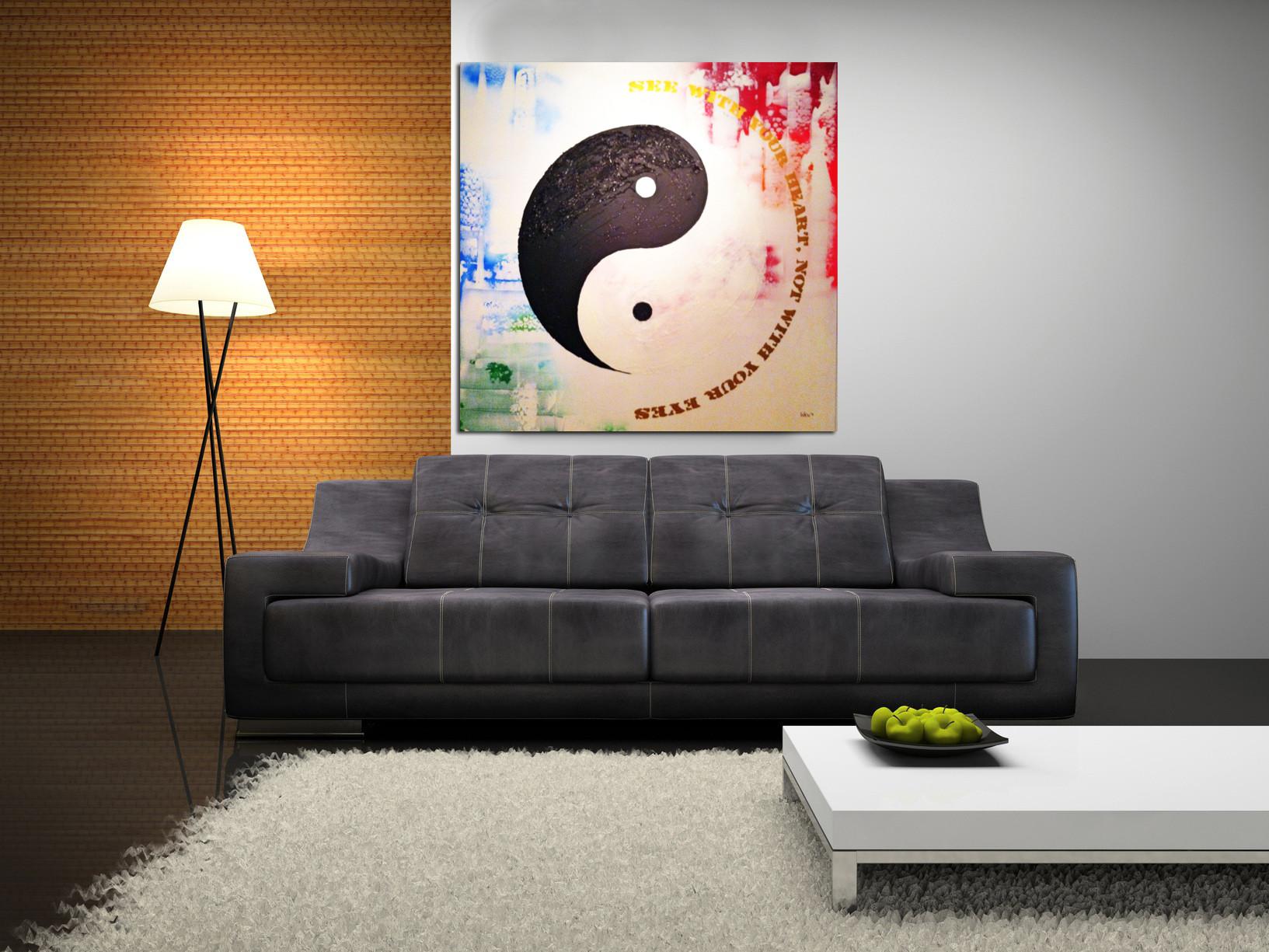 Yin Yang 130 x 130 cm