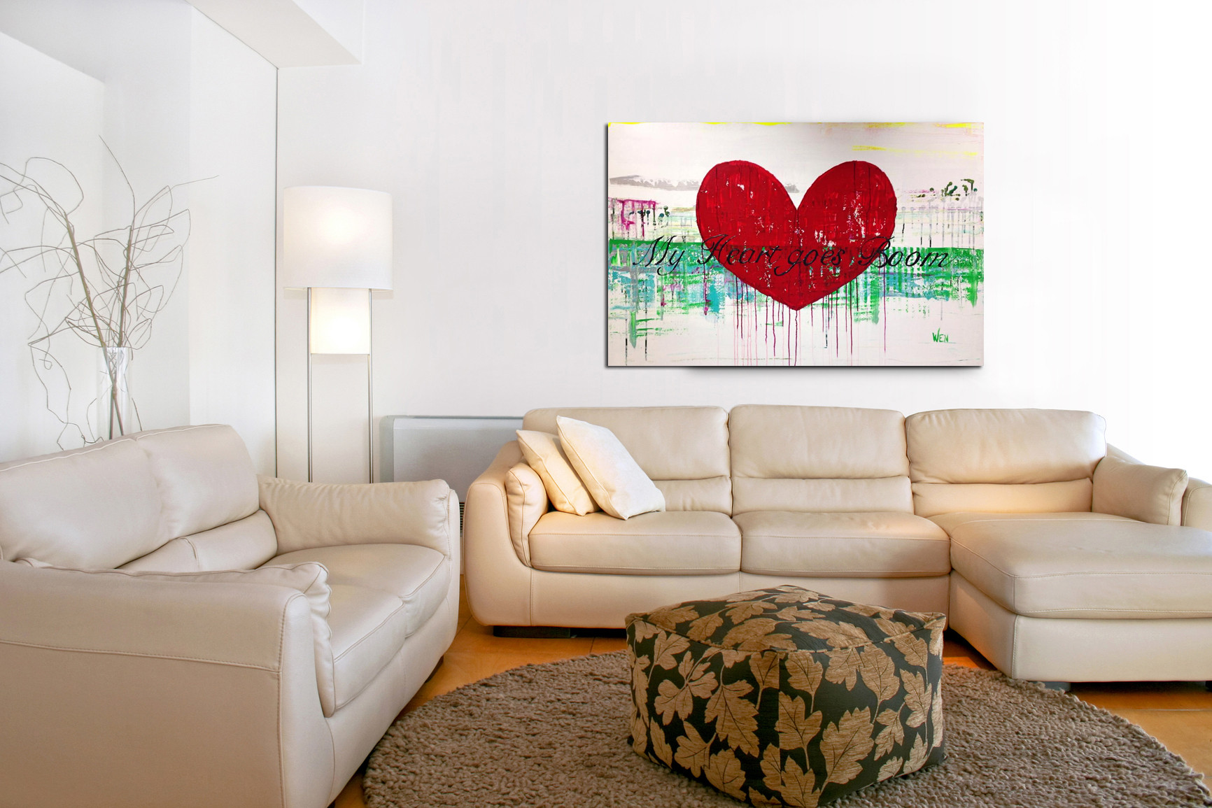 My Heart goes Boom 150 x 100 cm