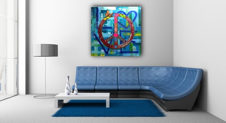Peace 150 x 150 cm