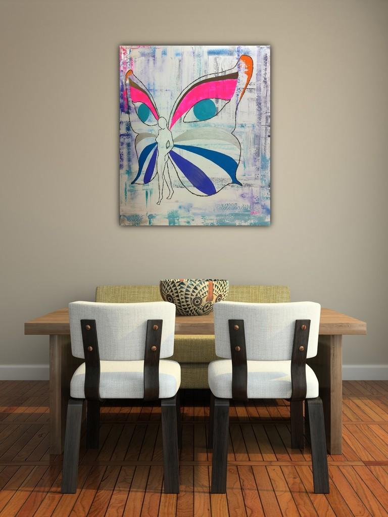 Female Butterfly 130 x 150 cm verkocht