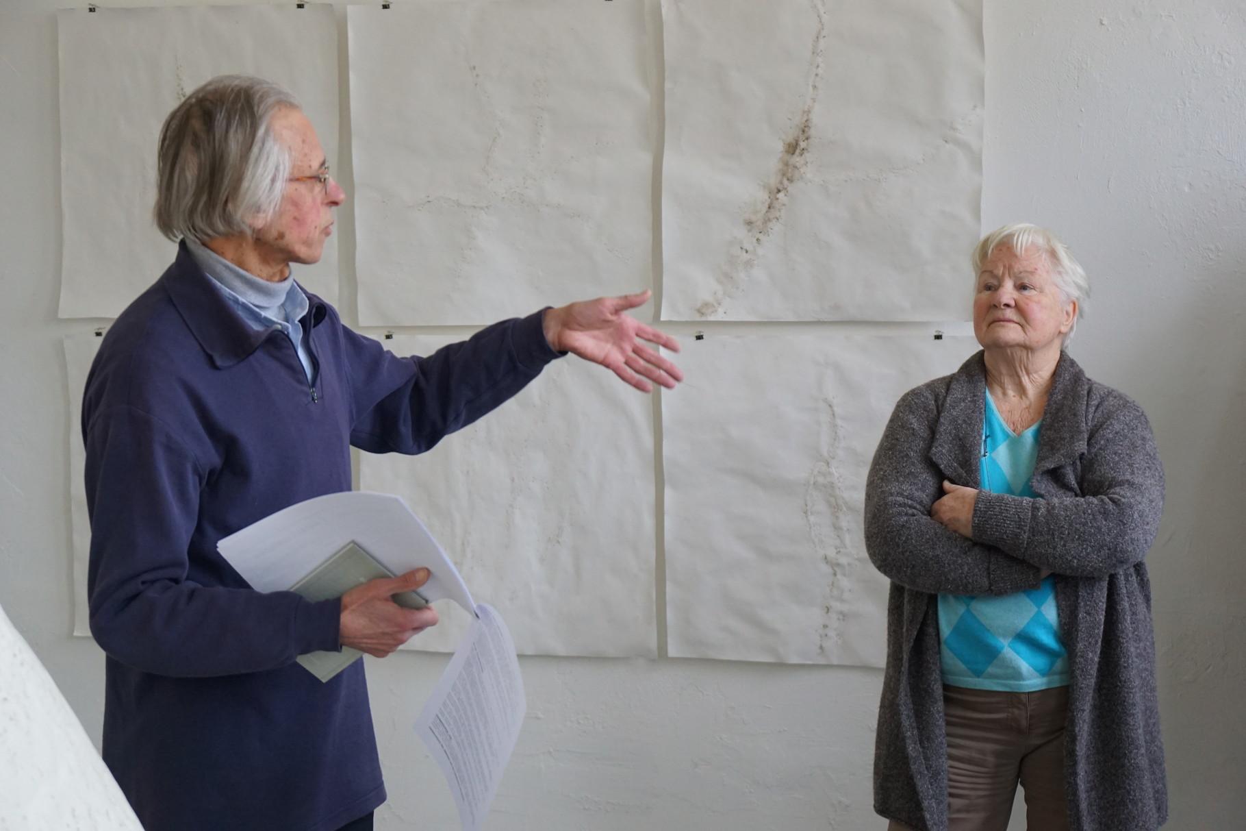 Luitgard Nolte vom Besuch des Kunstverein RE
