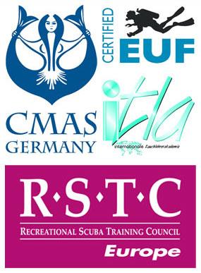 tauchausbildung weltweit anerkannt i.a.c. cmas rstc jan von rahden
