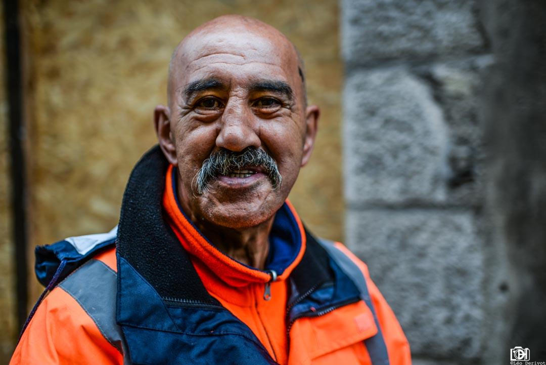 Rencontre d'un éboueur carcassonnais, Carcassonne