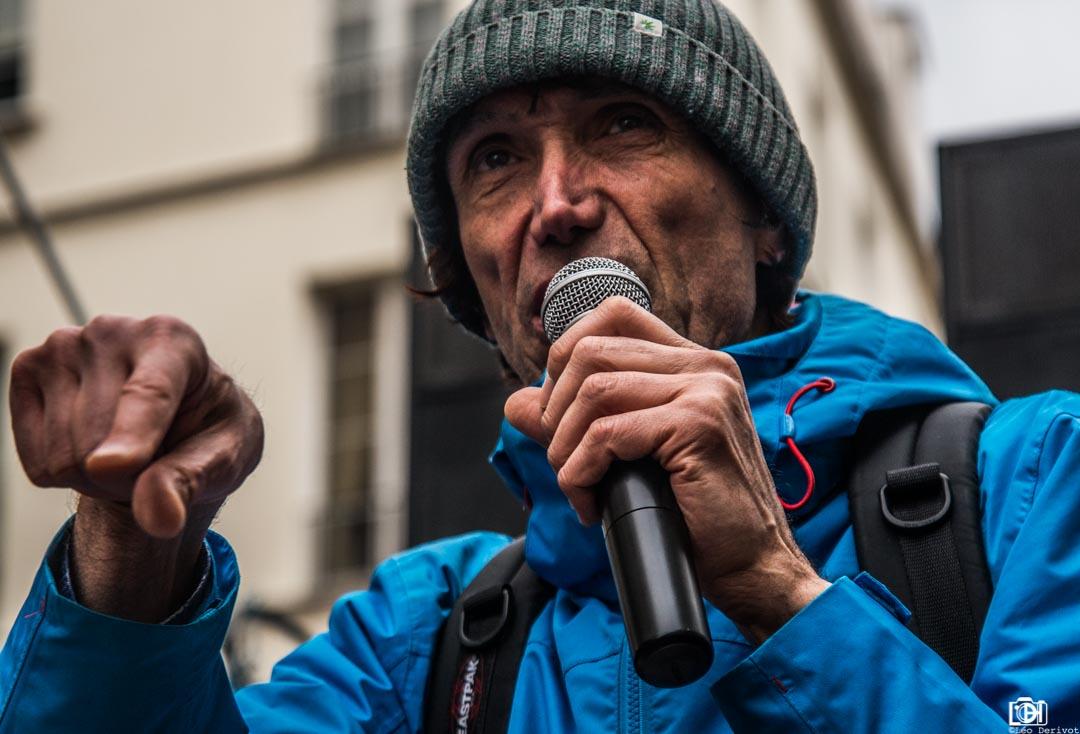 Portrait d'un manifestant, Paris, 2018