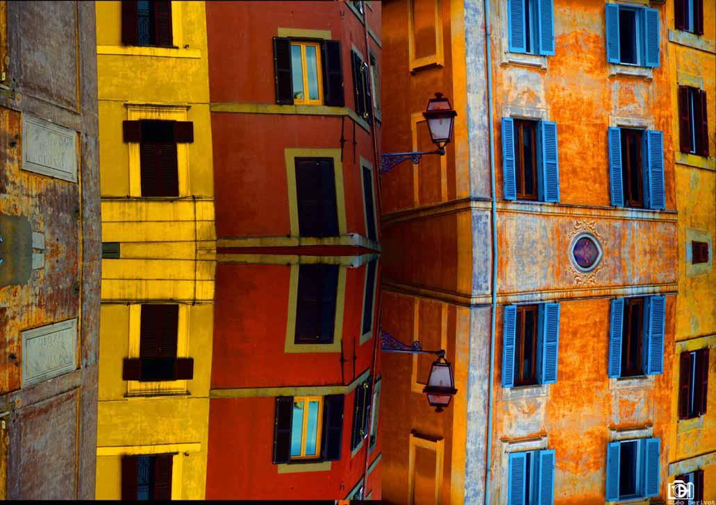 Symétrie architecturale, Rome, 2016, Léo Derivot