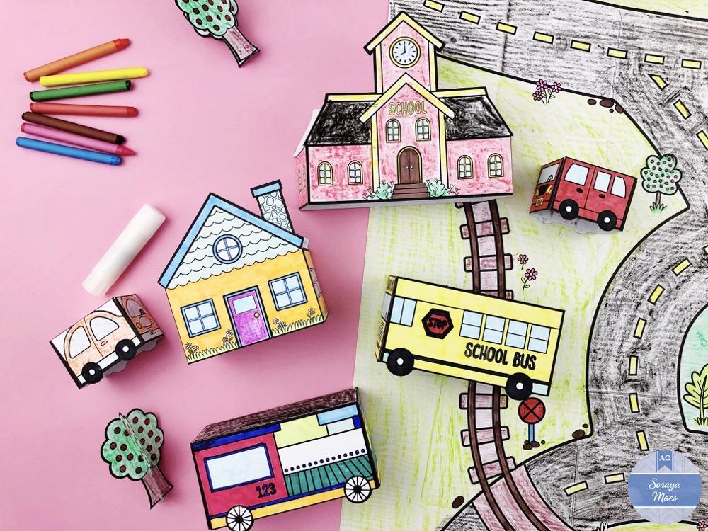 KIDS CORNER: On a Fabriqué Une Ville En Papier!