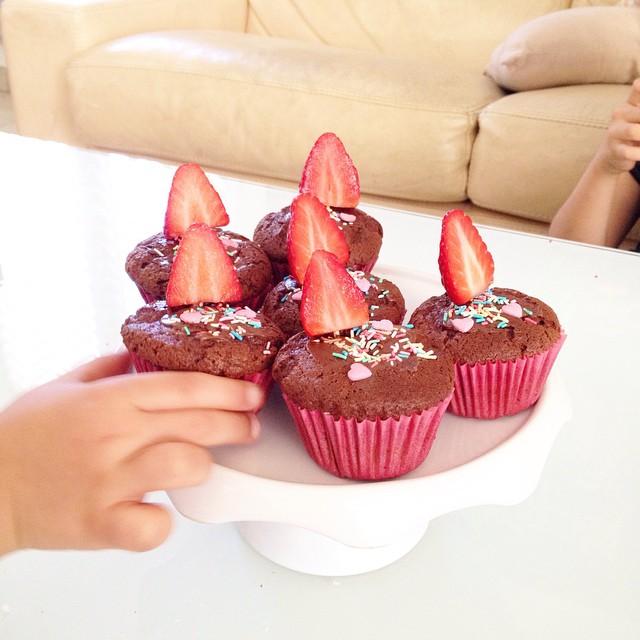Cupcakes Choco Fraises