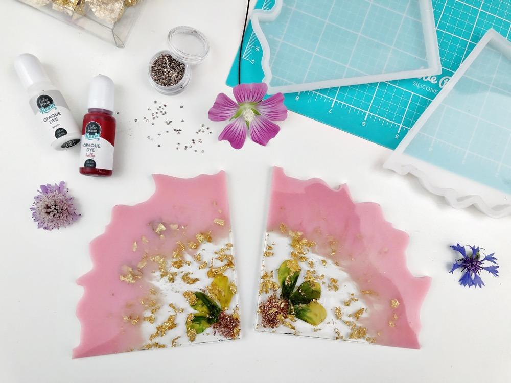 Lifestyle+Déco: Des Géodes Fleuries en Résine!