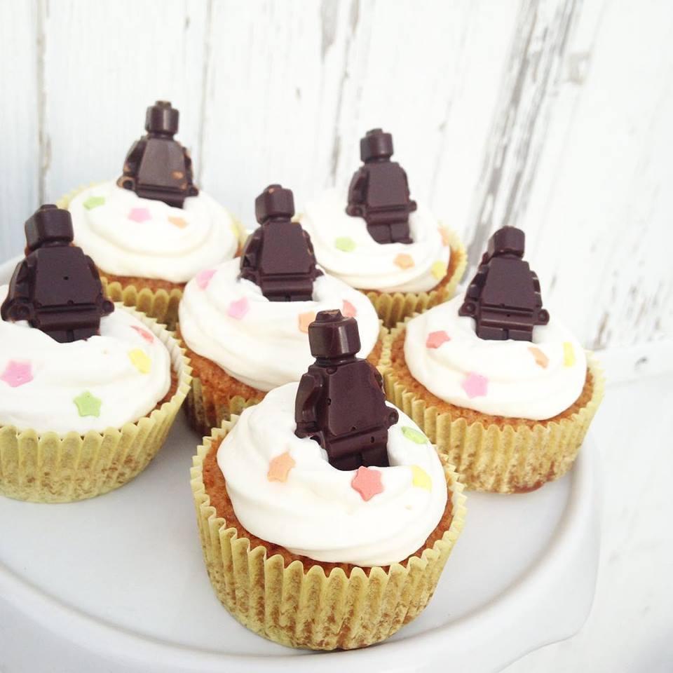 Cupcake Lego choco-vanille