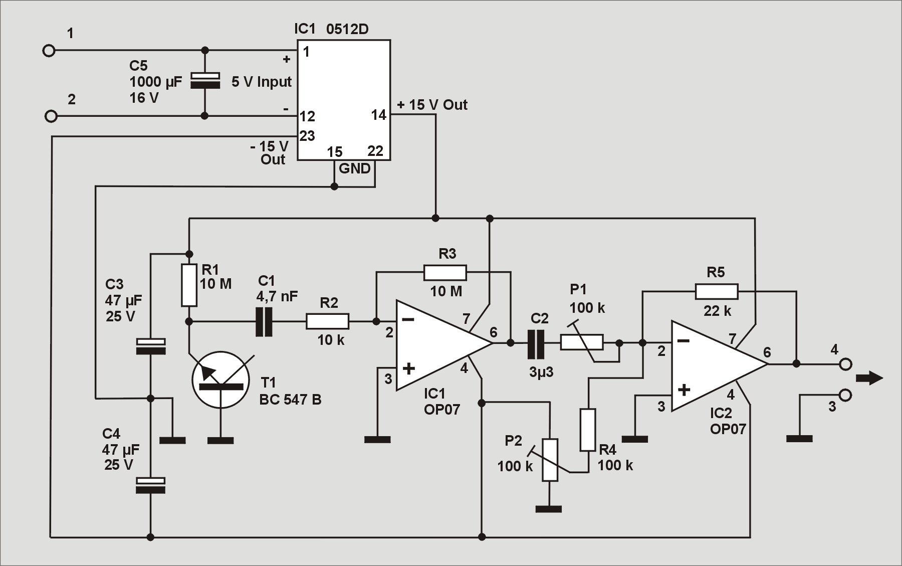 echter zufall mit rausch-transistor