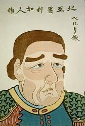 Admiral Perry, japnischer Holzdruck  1854