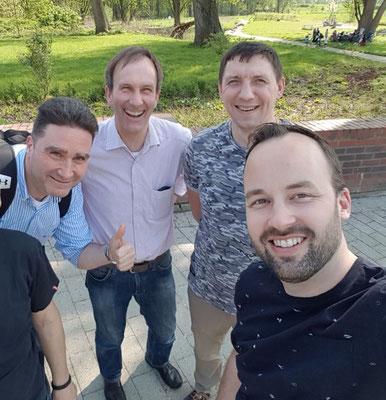 Selfie mit Mitarbeitern