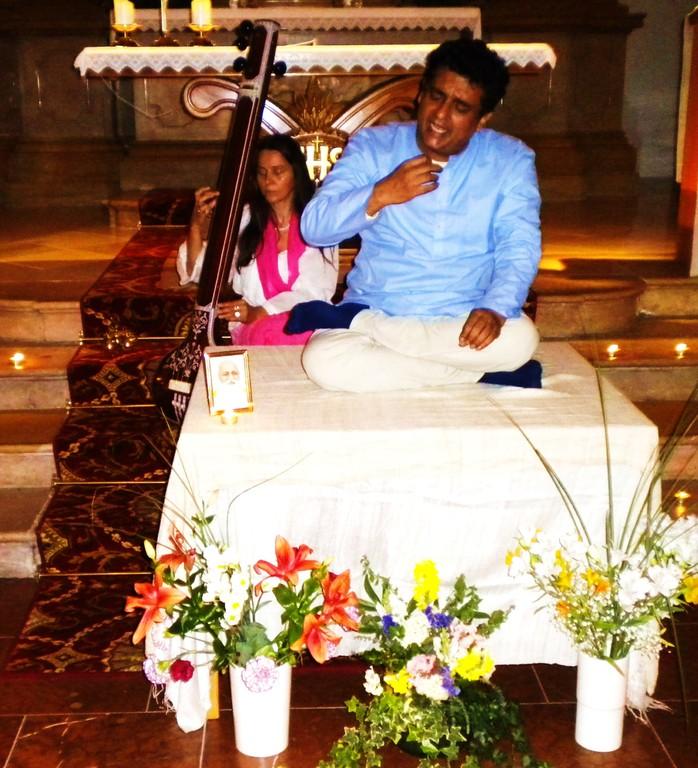 Konzert mit Ashish Sankrityayan in Flachau, August 2010