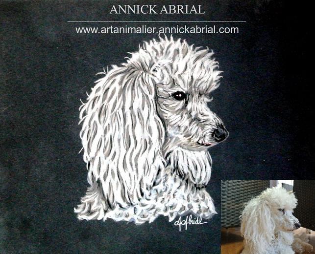 Portrait aux pastels chien Elypse format 24 x 30 cm