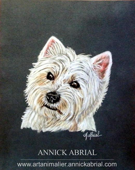 Portrait de Sweety aux pastels (portrait réalisé sur commande)