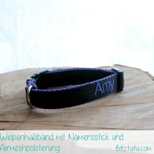 20mm Gurtband, mit Airmesh gepolstert und individuell bestickt