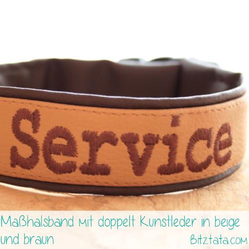 """Beschreibung wie vorheriges Bild, Beschriftung """"Chien en Service"""" in """"Courrier New""""-Font."""