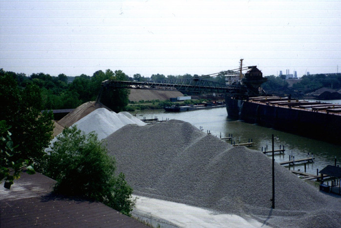 Aggregate delivered to Colorado Avenue dock on Black River in Lorain