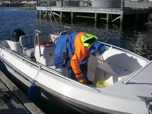 Endreinigung der Boote...