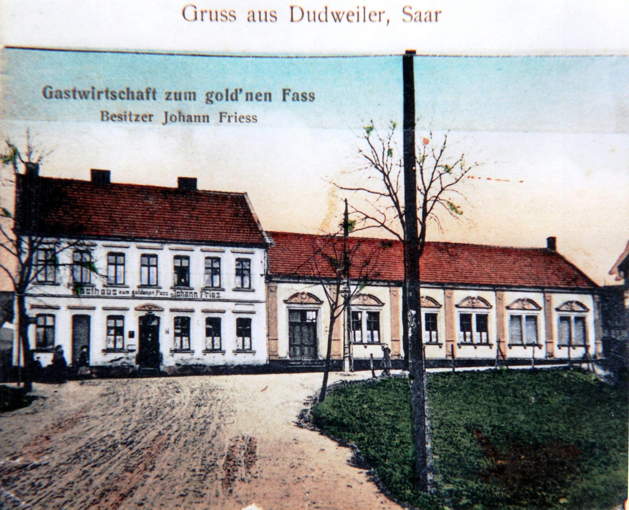 Gasthaus Zum goldenen Fass um 1910, Ecke Herrensohrer Weg, heute Robine