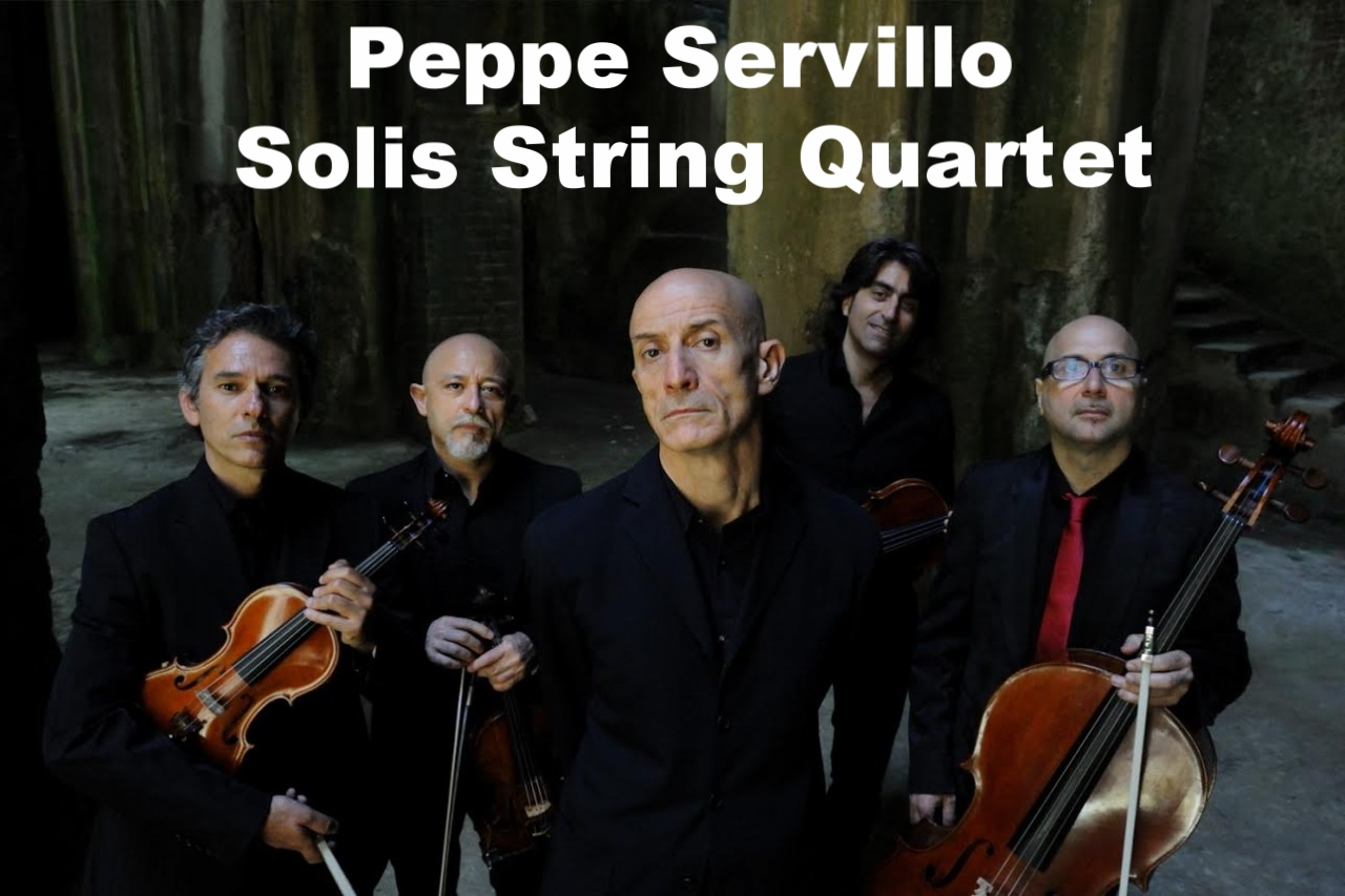 Peppe Servillo Solis String Quartet, Agenzia Peppe Servillo, Solis String Quartet, Contatti Peppe Servillo Solis String Quartet, management Peppe Servillo Solis String Quartet, ingaggio Peppe Servillo Solis String Quartet, concerti Peppe Servillo Solis,