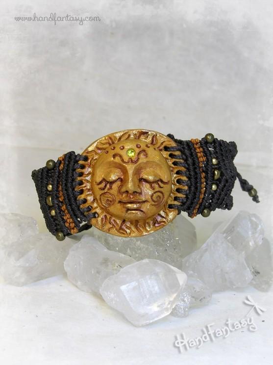 Brazalete Sol, Brazalete de Sol dorado, pulsera Sol
